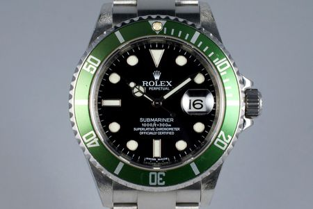 2007 ROLEX GREEN SUBMARINER 16610V