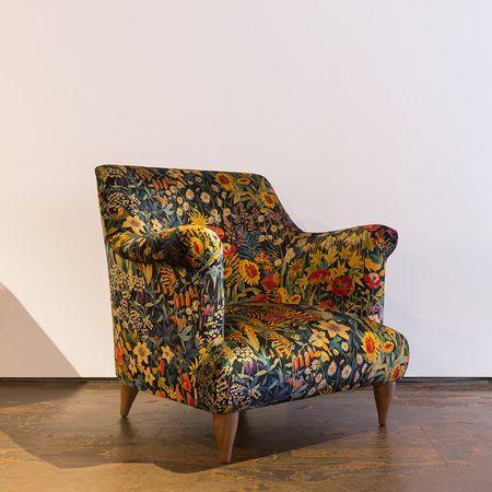 Goddard Armchair in Liberty Faria Flowers Marigold Velvet