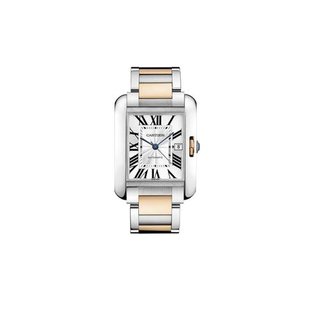 Cartier Medium Two Tone Tank Anglaise