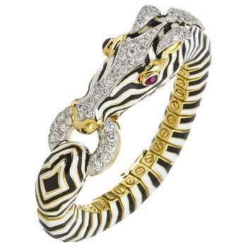 """David Webb \""""Zebra\"""" Bracelet"""