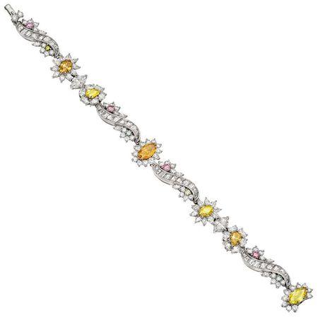 Raymond C. Yard Multicolored Diamond Bracelet