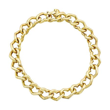 Betteridge Collection 14k Yellow Gold Heart Link Bracelet