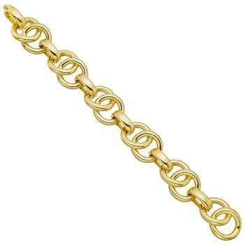 Antonio Papini 18k Yellow Gold Circular & Oval Link Bracelet