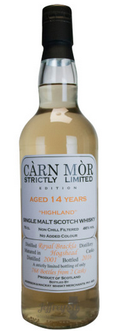 Royal Brackla by Morrison & Mackay, 2001, 14 Year Old