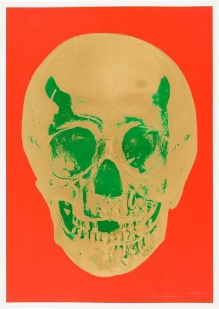 Damien Hirst Til Death do Us Part Time Bright Orange