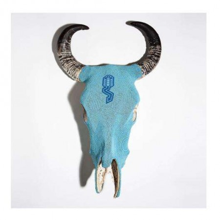 Mexican beaded bull skull