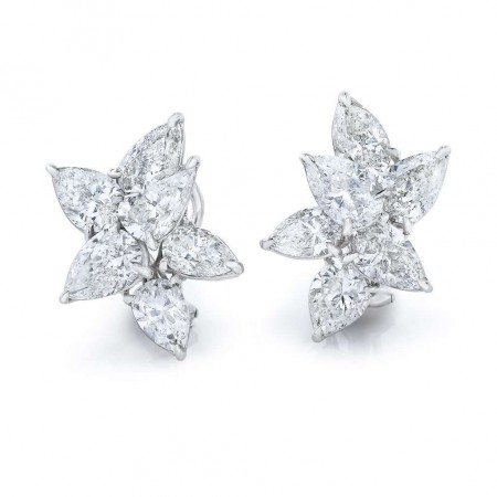 Magnificent Cluster Pear Shape Earrings
