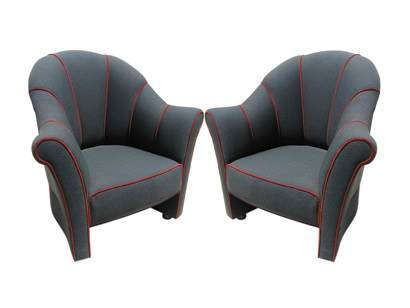 Pair of Vienna Secession Lounge Chairs by Josef Hoffmann