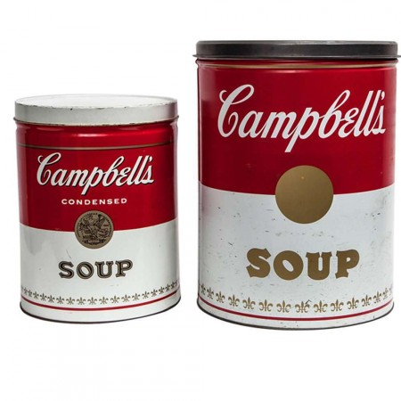 Set of 2 Pop Art Advertising Campbell\'s Soup Cans