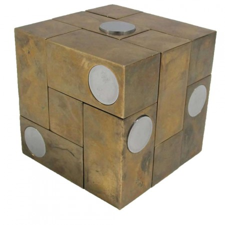 Brass and Steel Magic Puzzle Cube by Grupo Mijar
