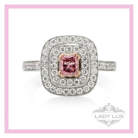 Argyle Pink Diamond Double-Halo Ring