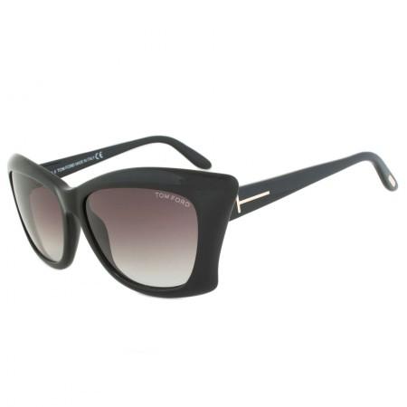 Tom Ford TF280 01B Lana Sunglasses   Black Frame   Purple Gradient Lens