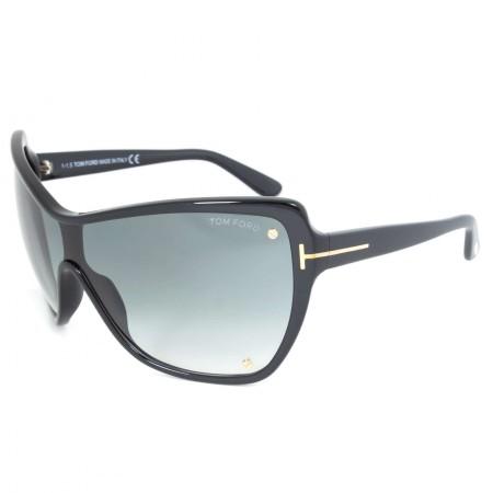 Tom Ford Ekaterina Sunglasses FT0363 01B   Black Frame   Grey Lens