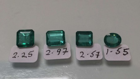 Four loose Zambian Emeralds.