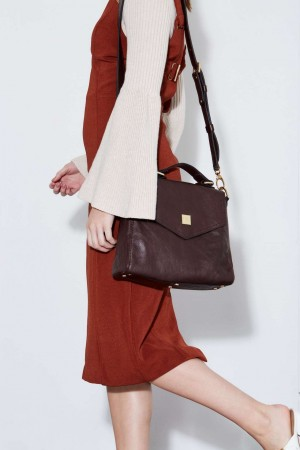 The Belmore Shoulder Bag in Dark Chocolate Italian Leather