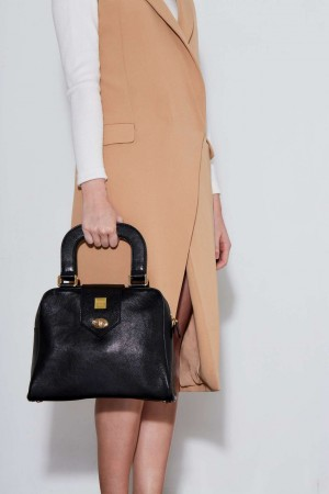 The Ballad Handbag in Black Italian Leather