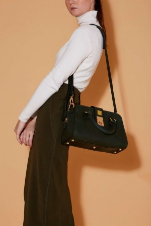 The Sublime Handbag in Green Italian Leather