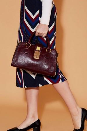 The Sublime Handbag in Purple Italian Leather