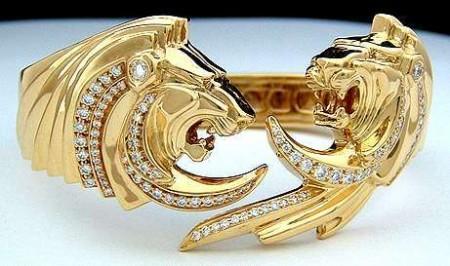 Lion Bangle Bracelet (Hinged)