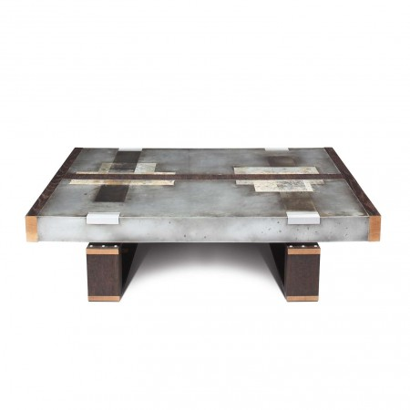 ""\""""Divided Lands"""" Coffee Table in Etched Zinc and Charred Oak by Studio Roeper""450|450|?|en|2|4e553f5dc620476767160e590ec5dfbf|False|UNLIKELY|0.3628220856189728