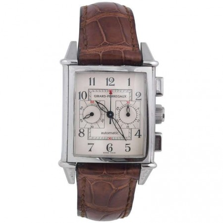Girard Perregaux stainless steel Vintage Chronograph Automatic Wristwatch