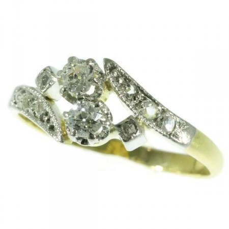 Belle Epoque Diamond and Gold Ring