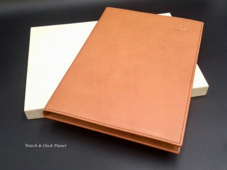 Omega leather notebook