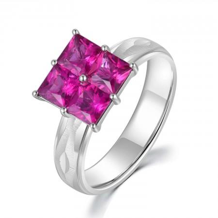 18K White Gold Tourmaline Ring