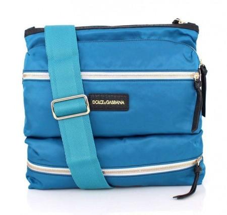 Dolce & Gabbana Blue canvas messenger bag