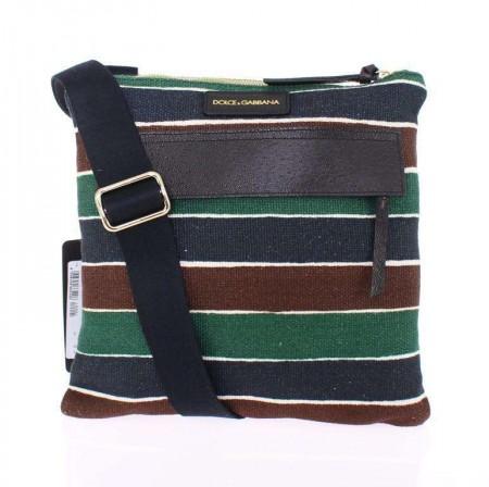 Dolce & Gabbana Multicolor canvas messenger bag