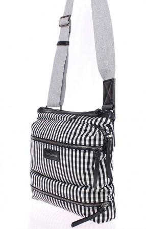 Dolce & Gabbana Black canvas messenger bag