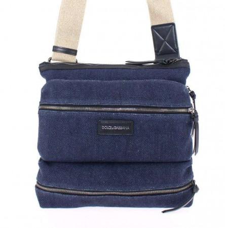 Dolce & Gabbana Blue denim messenger bag