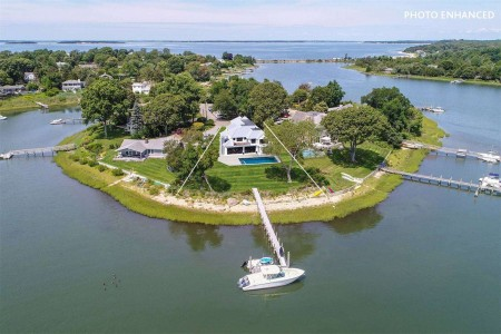 SPECTACULAR NEW SAG HARBOR WATERFRONT