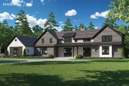 NEW CONSTRUCTION BORDERING RESERVE WITH TENNIS