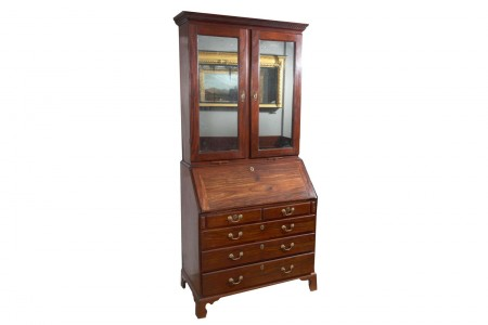 6370 – Early 19th Century George III Mahogany Bureau Bookcase