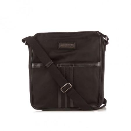 BURBERRY  Black Canvas Crossbody Bag