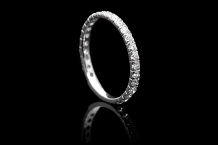 Timeless 0.75ct Diamond Eternity Wedding Band in Platinum