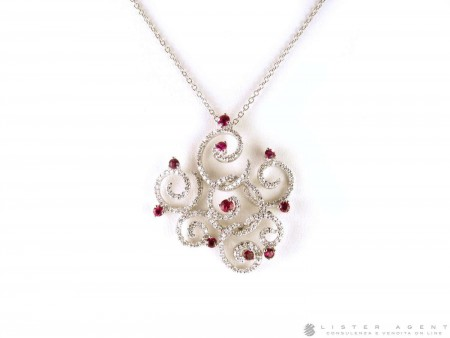 SALVINI NECKLACE IN 18KT WHITE GOLD WITH DIAMONDS