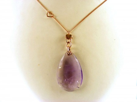 KIDULT NECKLACE IN 9KT ROSE GOLD AND AMETHYST