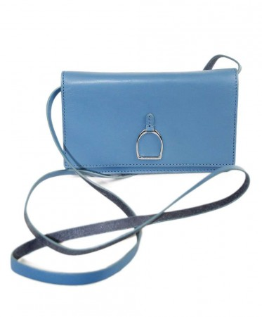 RALPH LAUREN BLUE LEATHER HANDBAG