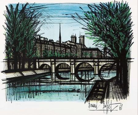 Bernard Buffet Le Pont Grenelle a Paris