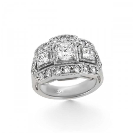 Princess Cut Diamond Cocktail Ring