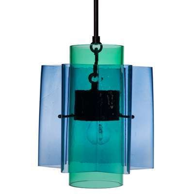 Petrona Star-Shaped Pendant Light in Mouthblown Glass