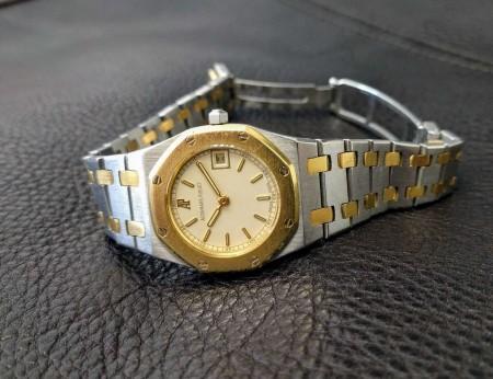 Audemars Piguet Royal Oak 26mm, Quartz, Yellow Gold White Dial, Ladies  Watch