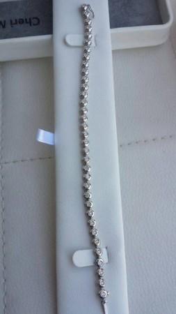 Gold tennis bracelet with diamonds, G colour, VS/VVS,1.35 ct