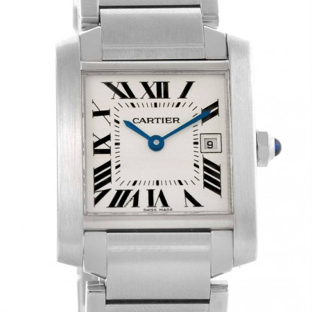 Cartier Tank Francaise Midsize Stainless Steel Ladies Watch W51011Q3