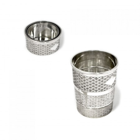 Silver Plated Collapsible Beaker