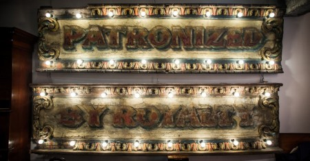 1870's Rare Fairground Sign in Two Parts – 'Patronized by Royalty'
