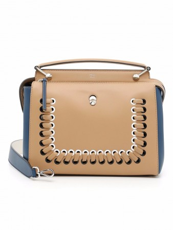FENDI DOTCOM MULTICOLOUR BEIGE LEATHER
