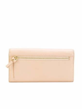 SEE BY CHLOÉ POLINA GRAINED NUDE LEATHER WALLET